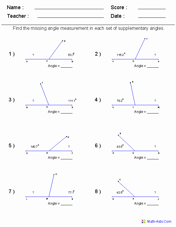 Lines and Angles Worksheet Inspirational Geometry Worksheets