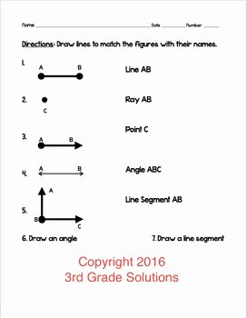 Lines and Angles Worksheet Inspirational Lines Rays Angles assessment by Schooling Sara