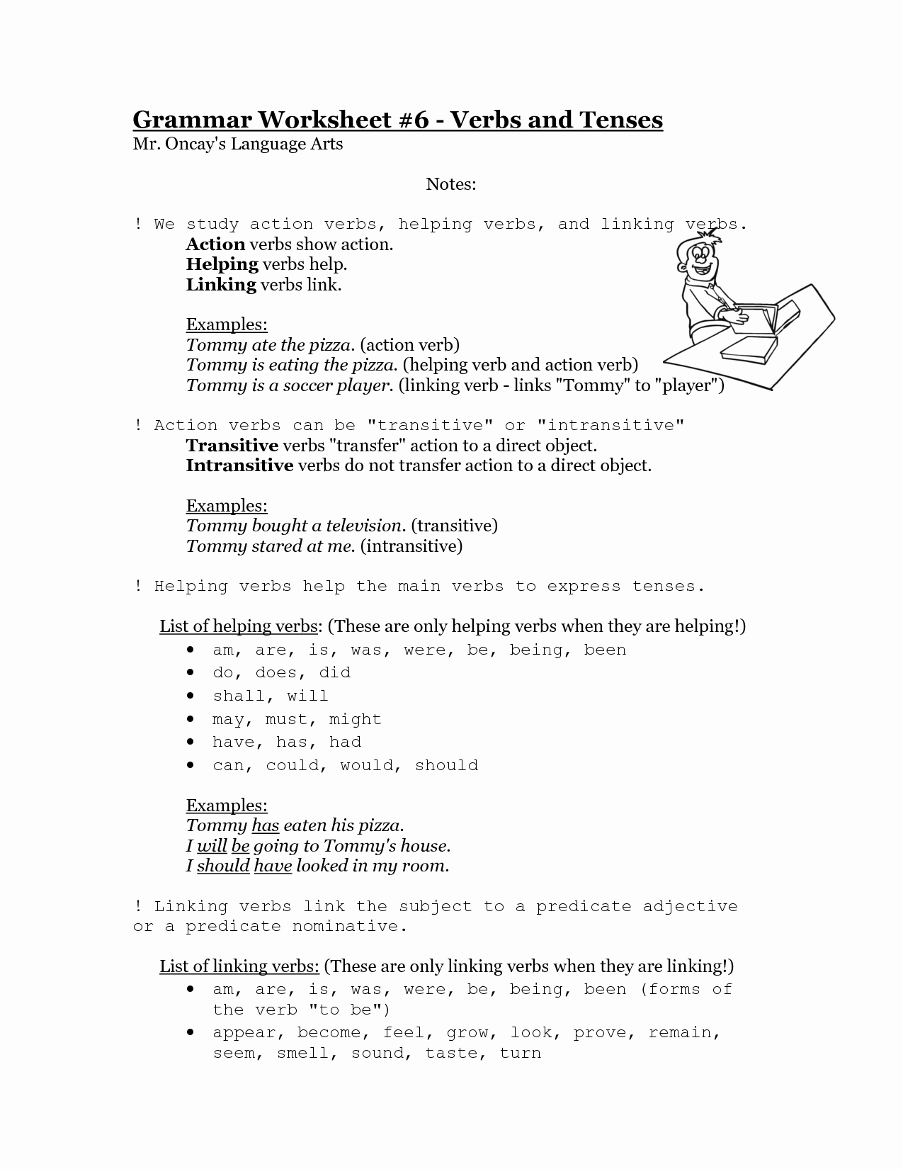 action verbs and linking verbs worksheets helping verbs