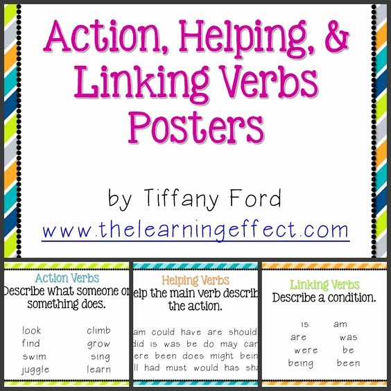 Linking and Helping Verbs Worksheet Lovely Linking Verbs Back to School Night and Back to School On