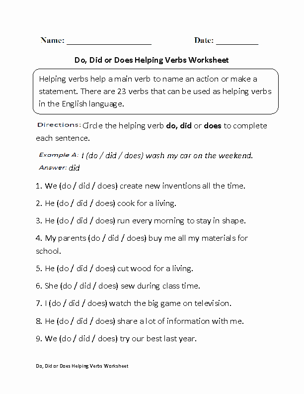 Linking and Helping Verbs Worksheet Luxury Englishlinx