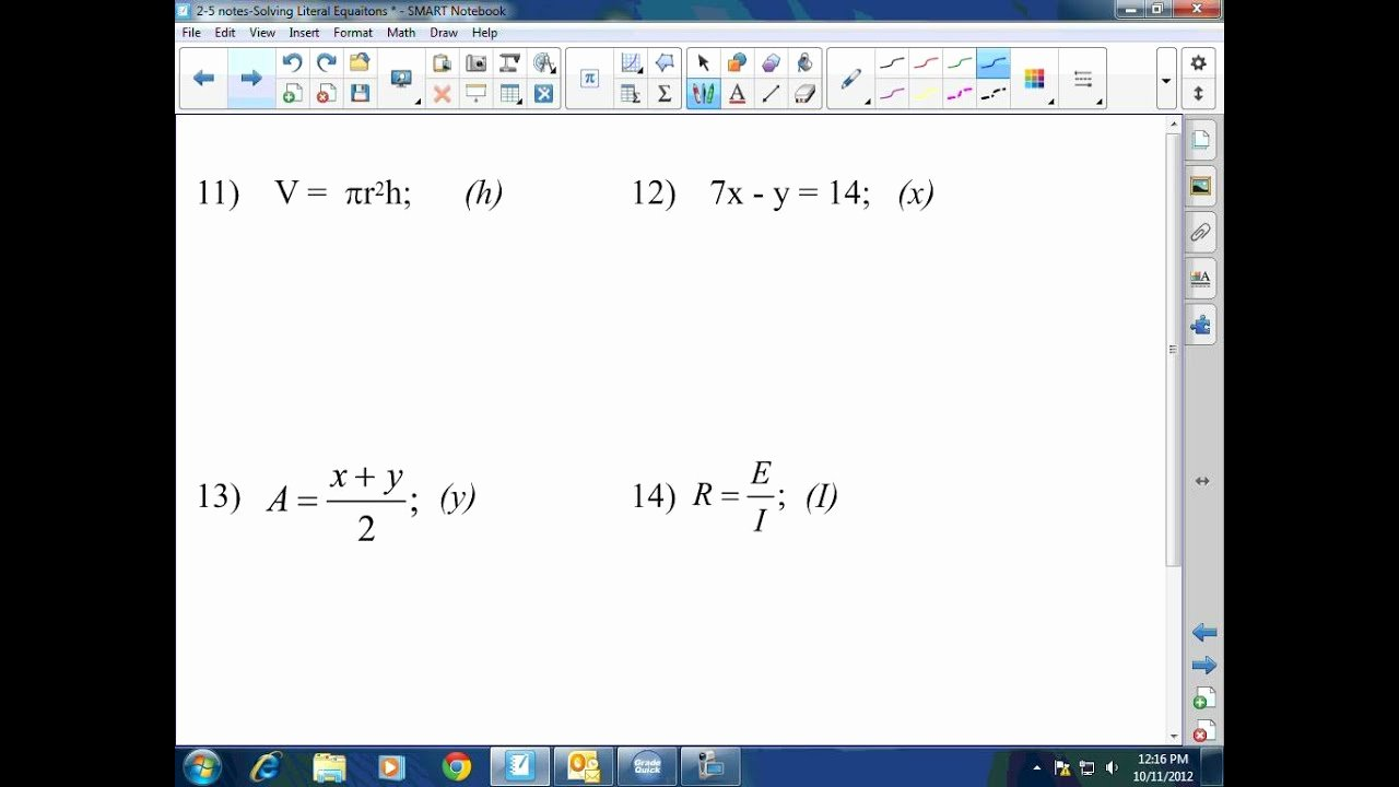 Literal Equations Worksheet Algebra 1 Beautiful Algebra I & Ii solving Literal Equations