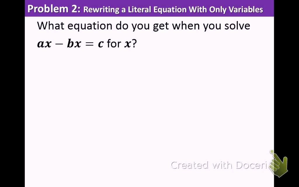 Literal Equations Worksheet Algebra 1 Elegant Algebra 1 2 5 Literal Equations and formulas