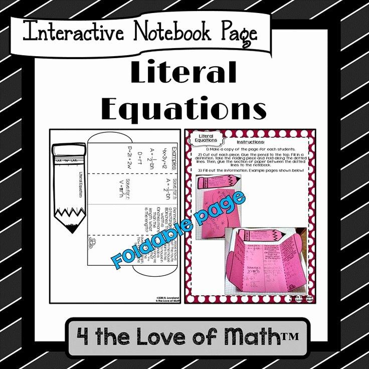 Literal Equations Worksheet Algebra 1 Lovely 10 Best Images About Education Algebra 1 Literal Equations
