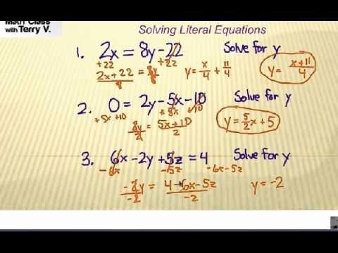 Literal Equations Worksheet Algebra 1 Unique How to solve Literal Equations Self Quiz