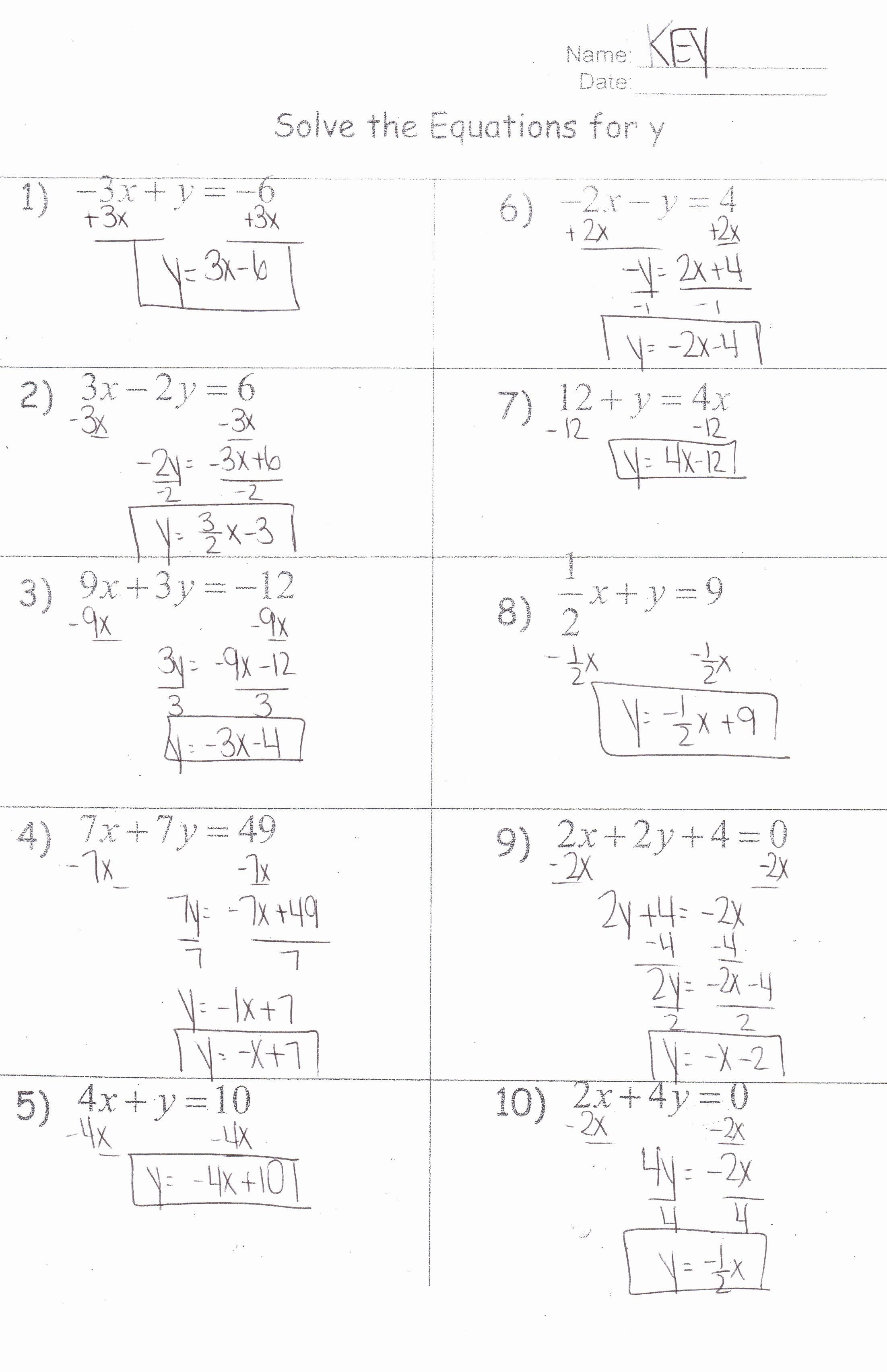 Literal Equations Worksheet Answer Key Elegant Algebra I Honors Mrs Jenee Blanco Go Mustangs