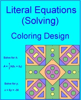 Literal Equations Worksheet Answer Key New Equations solving Literal Equations 2 Coloring