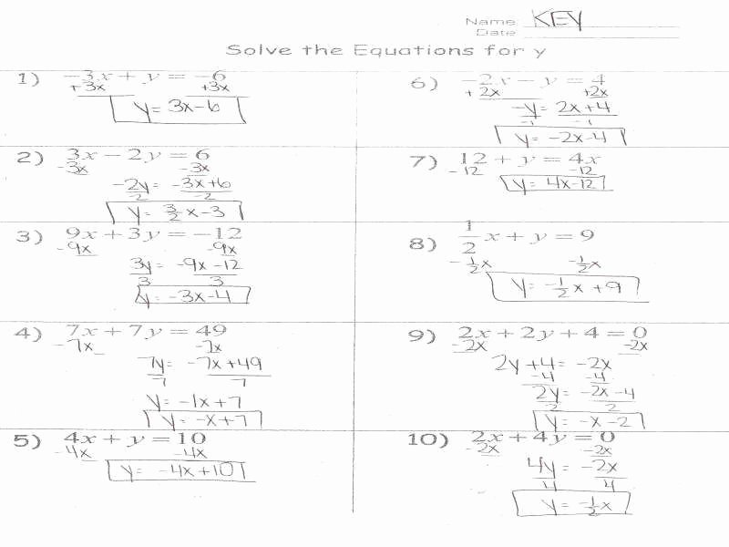 Literal Equations Worksheet Answer Unique Literal Equations Worksheet