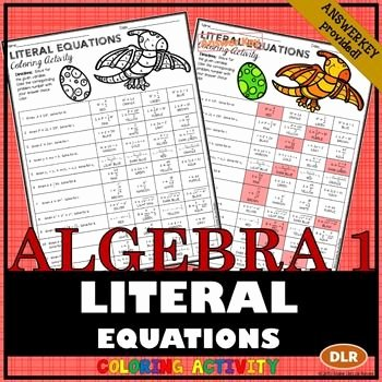 Literal Equations Worksheet Answers Beautiful 10 Best Images About Education Algebra 1 Literal Equations