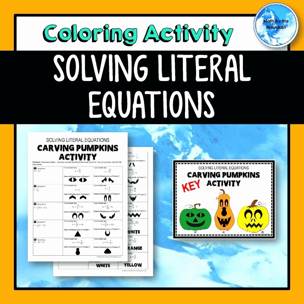 Literal Equations Worksheet Answers Elegant Shamrockin Equations Worksheet Answers Key Math Worksheets