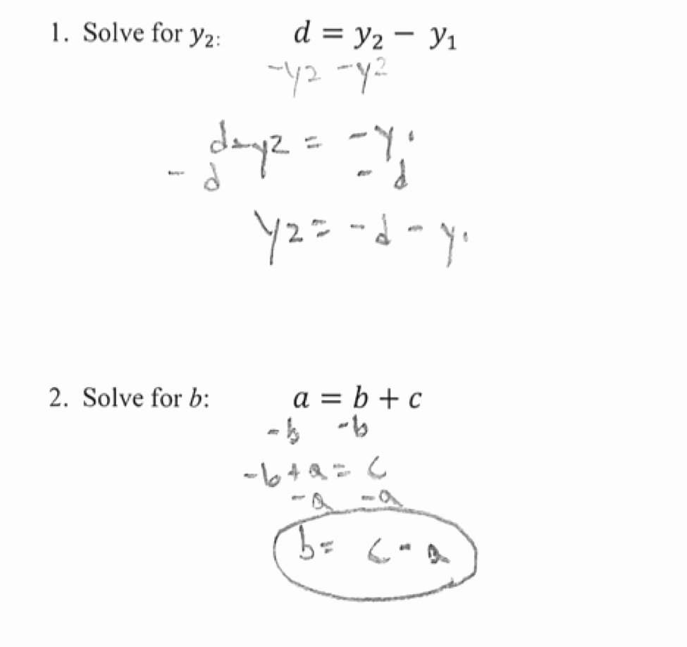 Literal Equations Worksheet Answers Inspirational See Examples before for the Method to solving Literal Equ