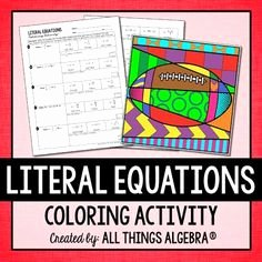 Literal Equations Worksheet Answers Unique solving Equations Equation and High Schools On Pinterest