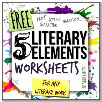 Literary Devices Worksheet Pdf Awesome 5 Literary Elements Worksheets by Stacey Lloyd
