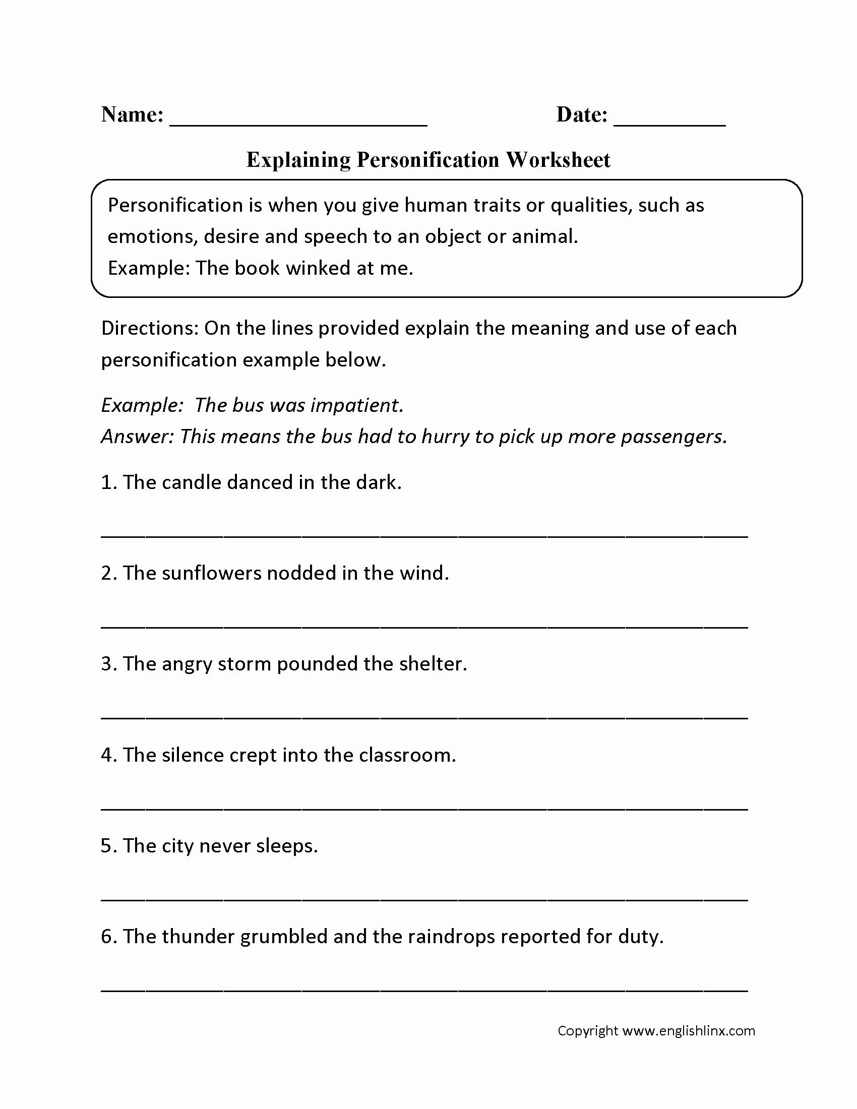 Literary Devices Worksheet Pdf Beautiful Figurative Language Worksheets