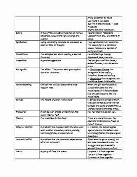 Literary Devices Worksheet Pdf Luxury Literary Terms Worksheet by Coop S Corner
