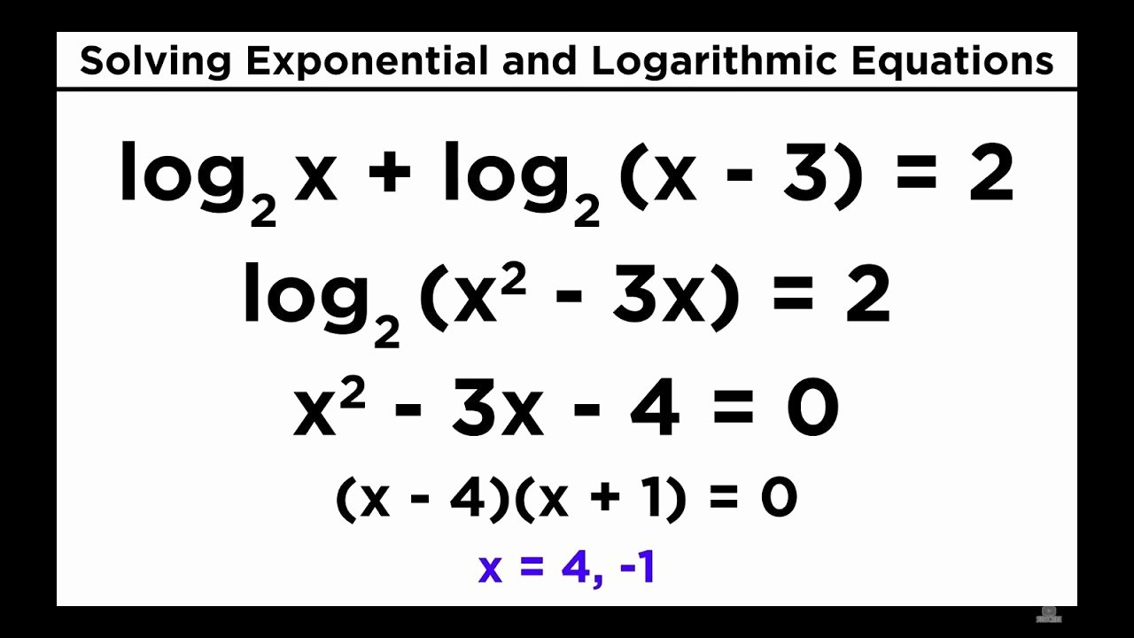 Logarithmic Equations Worksheet with Answers Lovely solving Exponential and Logarithmic Equations