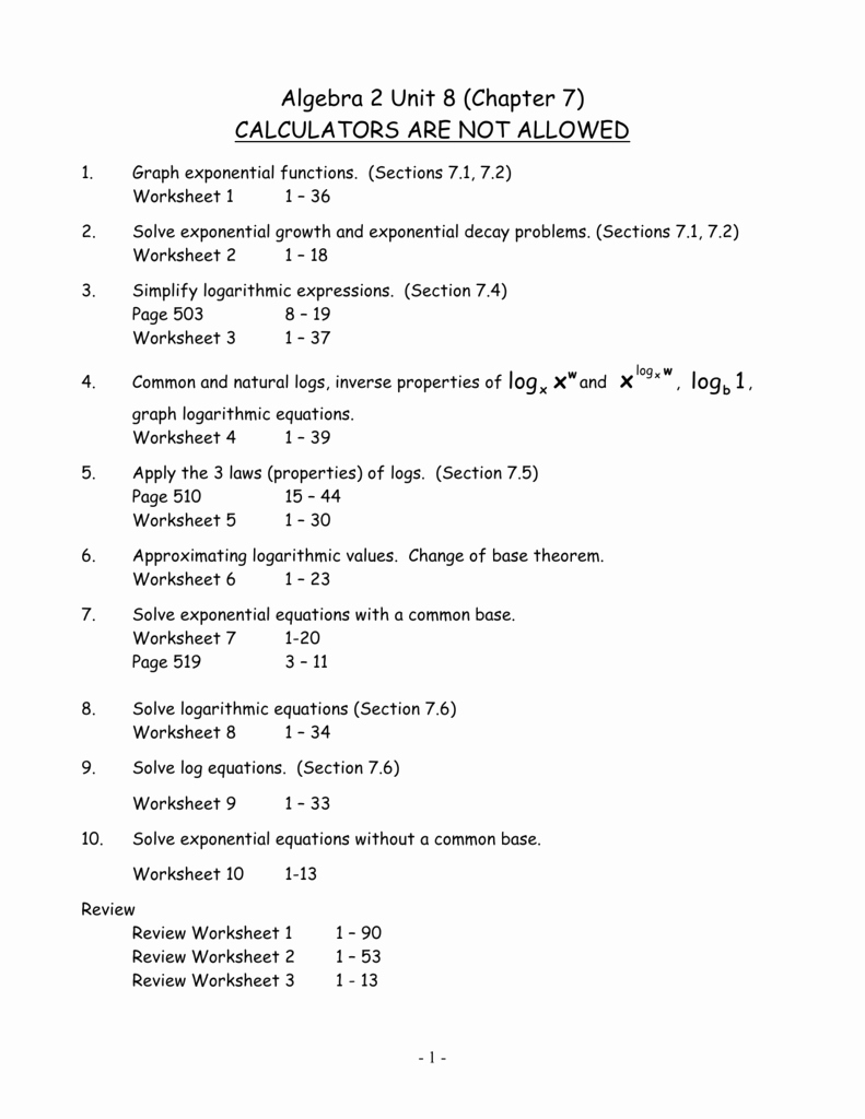 Logarithmic Equations Worksheet with Answers Unique Logarithmic Equations Worksheet with Answers Math