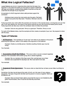 Logical Fallacies Worksheet with Answers New What are Logical Fallacies
