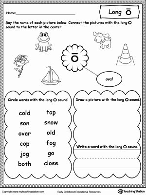 Long A sound Words Worksheet Awesome Vowels Short or Long O sound Words