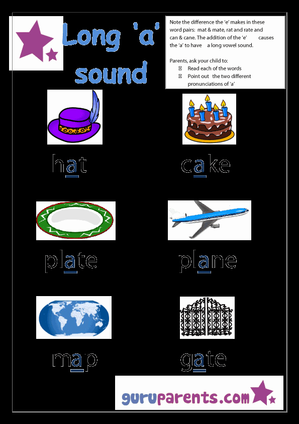 Long A sound Words Worksheet Beautiful Special Letter Worksheets