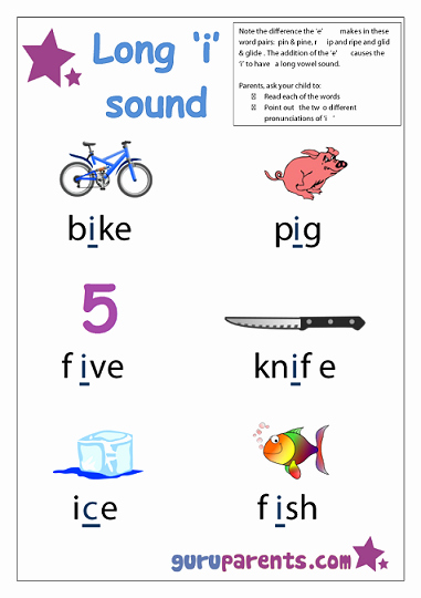 "Long A sound Words Worksheet Fresh Phonics – Long I sound Spelled with ""ign"""