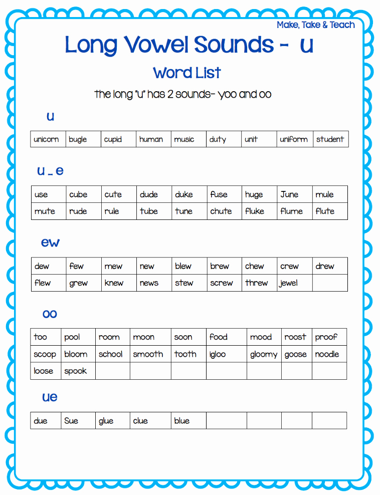 Long A sound Words Worksheet Inspirational Teaching Long Vowel Spelling Patterns Make Take & Teach