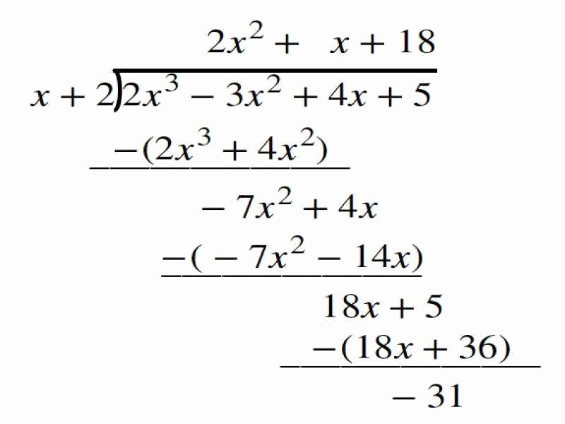 Long Division Of Polynomials Worksheet Beautiful Polynomial Long Division Worksheet