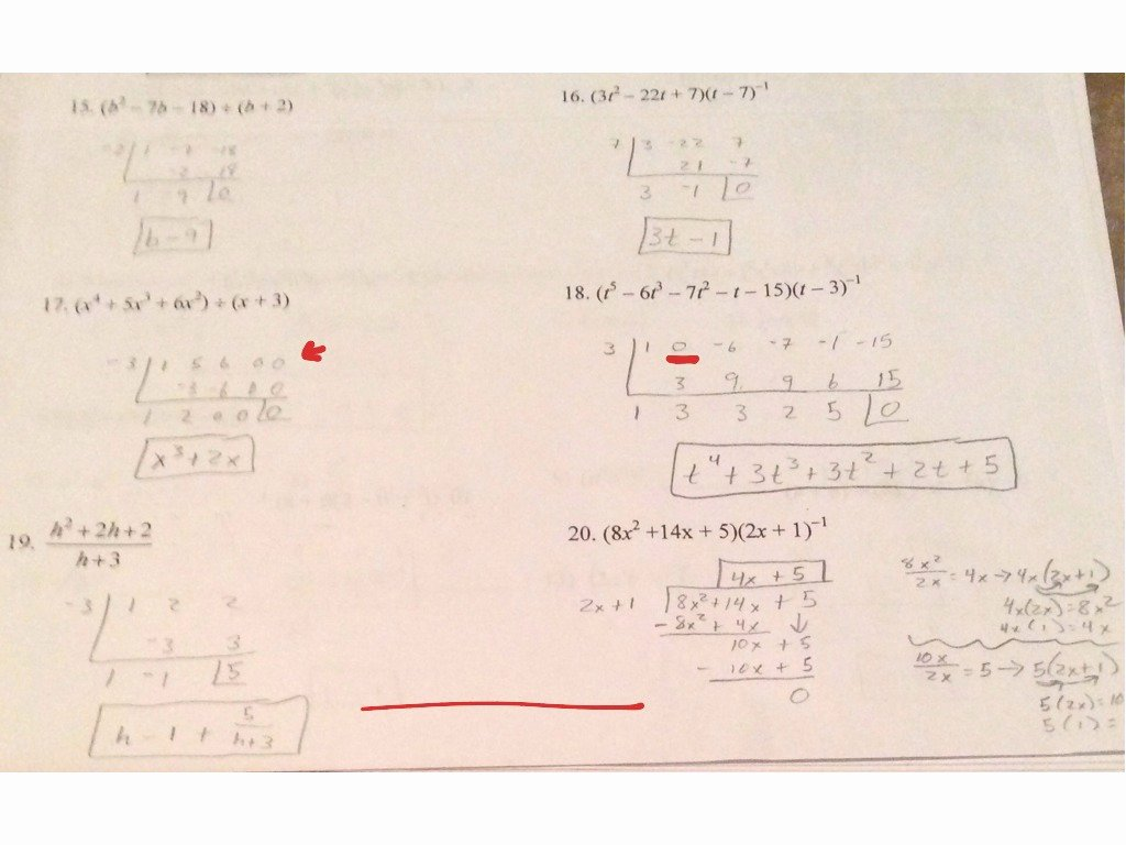 Long Division Of Polynomials Worksheet Inspirational Showme Long and Synthetic Division Worksheet Algebra 2