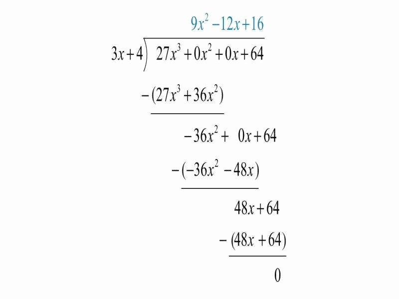 Long Division Polynomials Worksheet Lovely Polynomial Long Division Worksheet