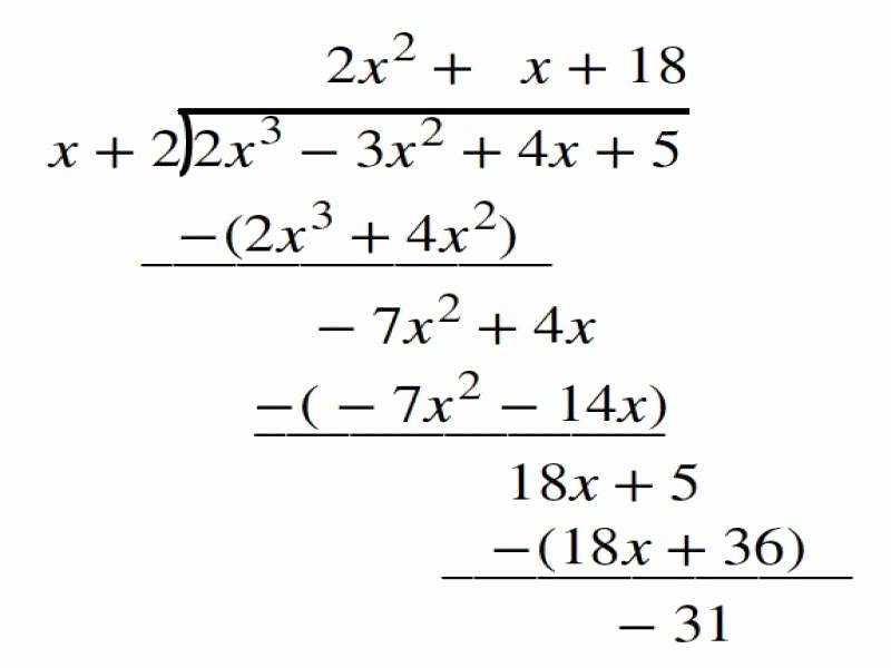 Long Division Polynomials Worksheet New Polynomial Long Division Worksheet