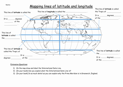 Longitude and Latitude Worksheet Beautiful Latitude and Longitude Worksheet by Katie Maria