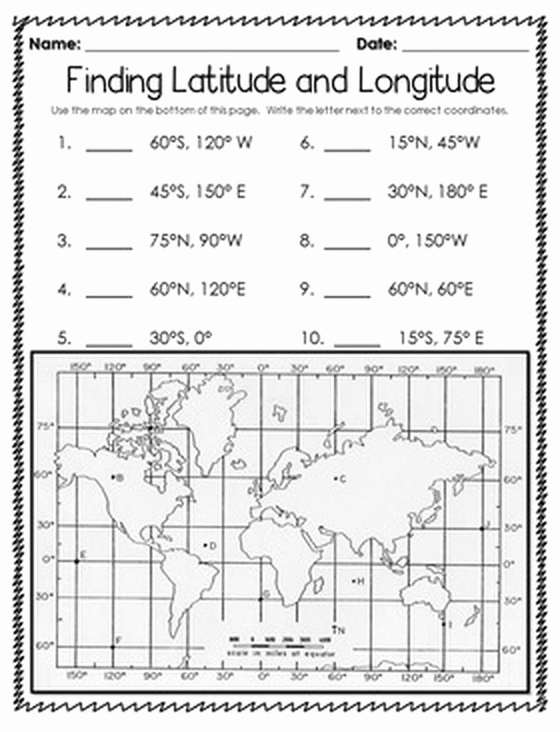 Longitude and Latitude Worksheet Beautiful Latitude and Longitude Worksheet Pdf the Best Worksheets