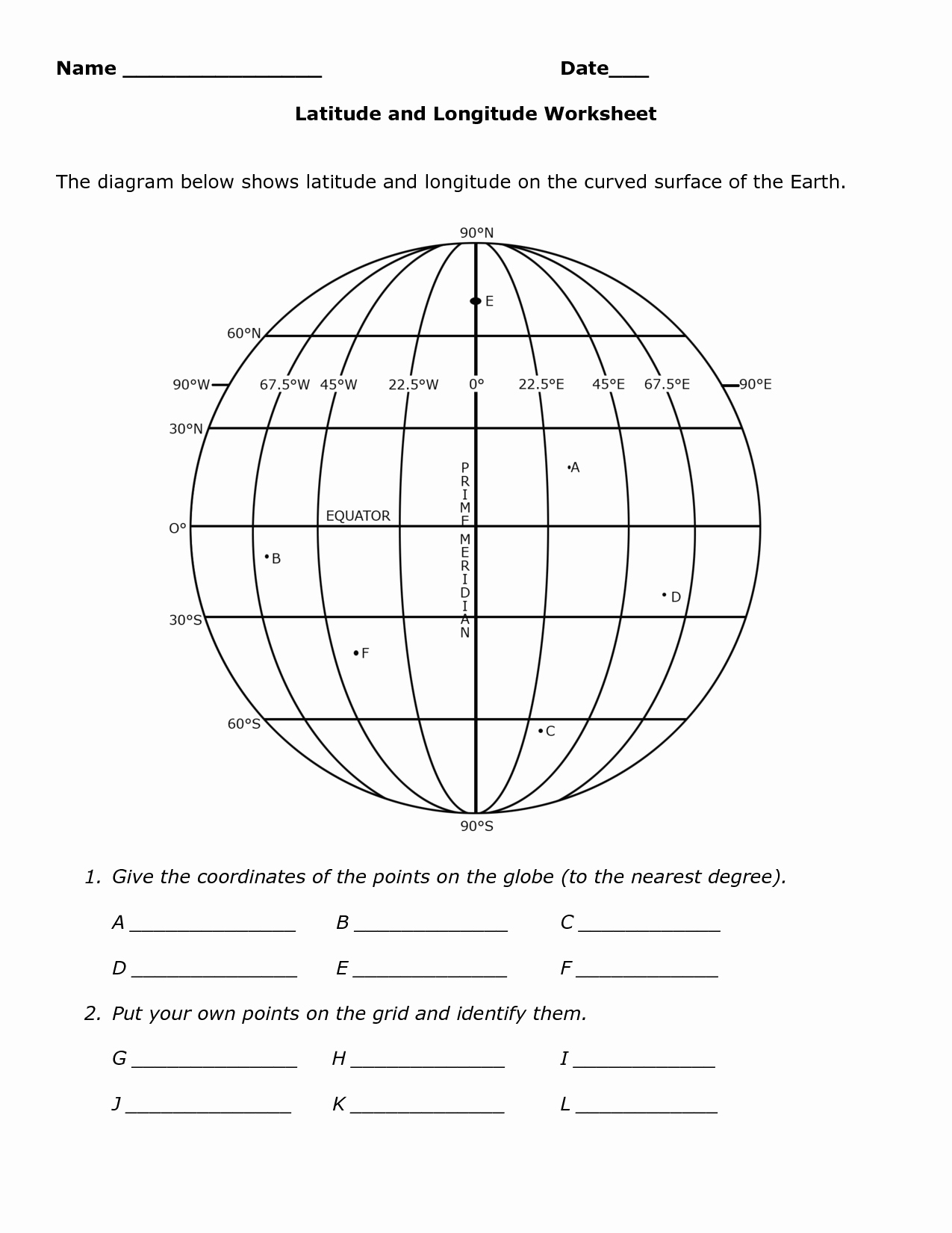Longitude and Latitude Worksheet Elegant Worksheet Latitude and Longitude Practice Worksheets