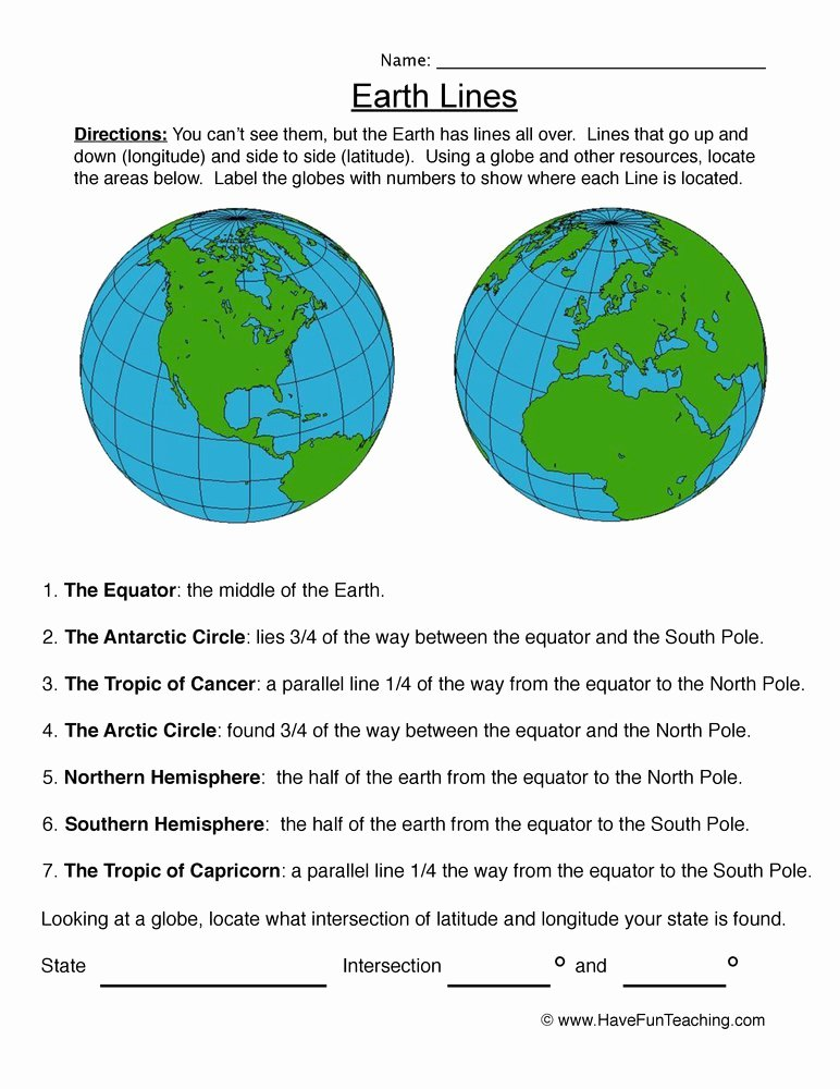 Longitude and Latitude Worksheet Inspirational Labeling Latitude and Longitude Worksheet