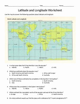 Longitude and Latitude Worksheet New Latitude Longitude Absolute Location Worksheet by Bruce