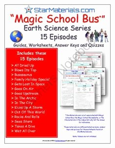 Magic School Bus Worksheet Awesome 16 Episodes Of Magic School Bus Physical Science Series