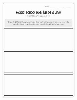 Magic School Bus Worksheet Inspirational Magic School Bus Takes A Di by Brianne Dekker