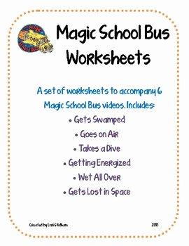 Magic School Bus Worksheet Inspirational Magic School Bus Worksheets by Lori Stidham