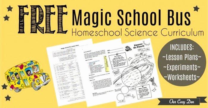 Magic School Bus Worksheet Luxury Free Printable Magic School Bus Homeschool Science
