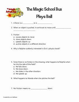 Magic School Bus Worksheet New Magic School Bus Plays Ball by Lori Stidham