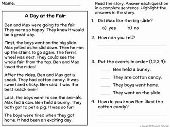 Main Idea Worksheet 2nd Grade Beautiful Main Idea and Supporting Details Passages and Activities