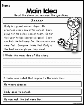Main Idea Worksheet 2nd Grade Elegant Free Main Idea Practice Pages for Beginners by Kaitlynn