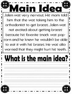 Main Idea Worksheet 2nd Grade Fresh Main Idea Of A Story Worksheet Language Arts