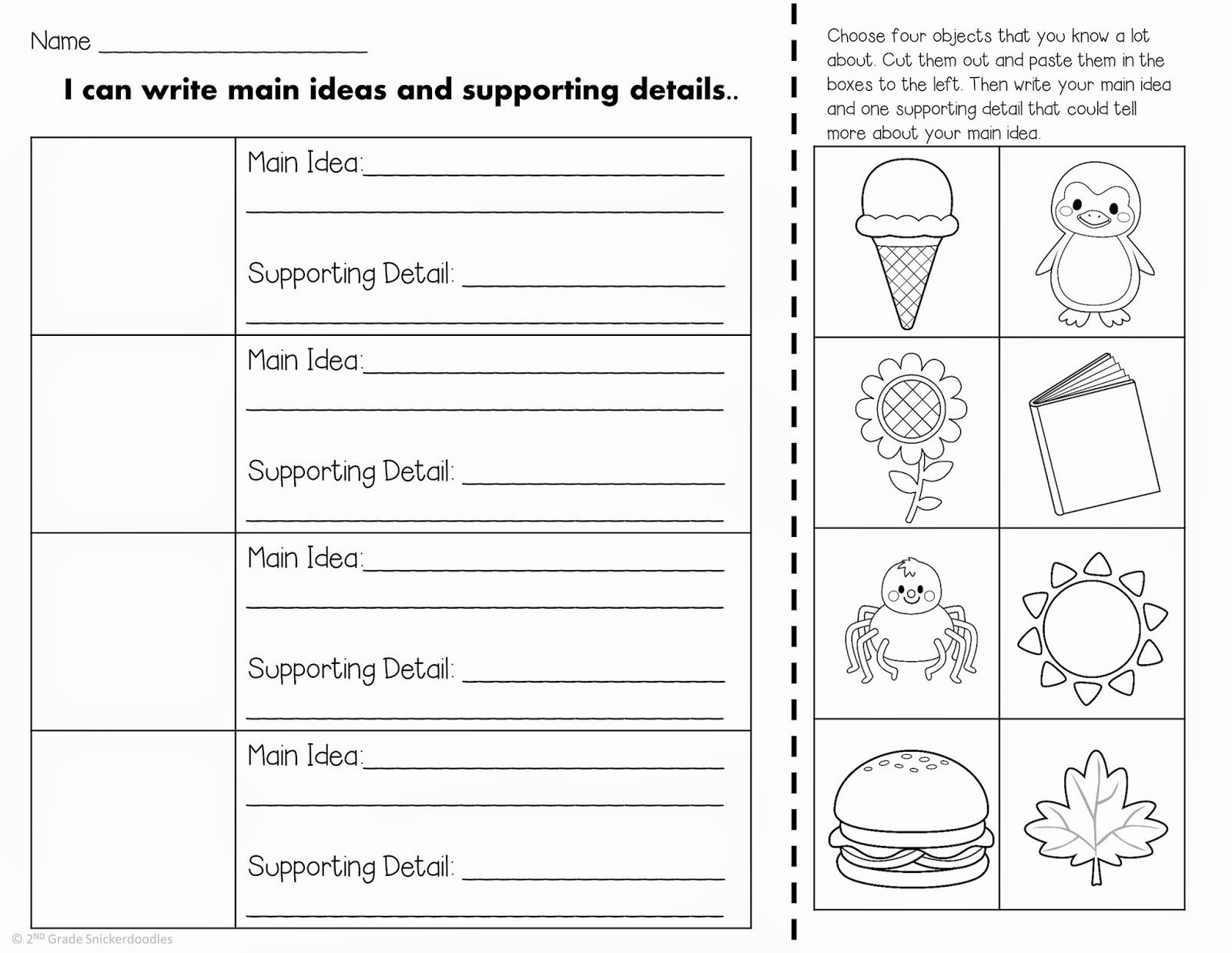 Main Idea Worksheet 2nd Grade Lovely 13 Best Of Main Idea Detail 2nd Grade Worksheet Key