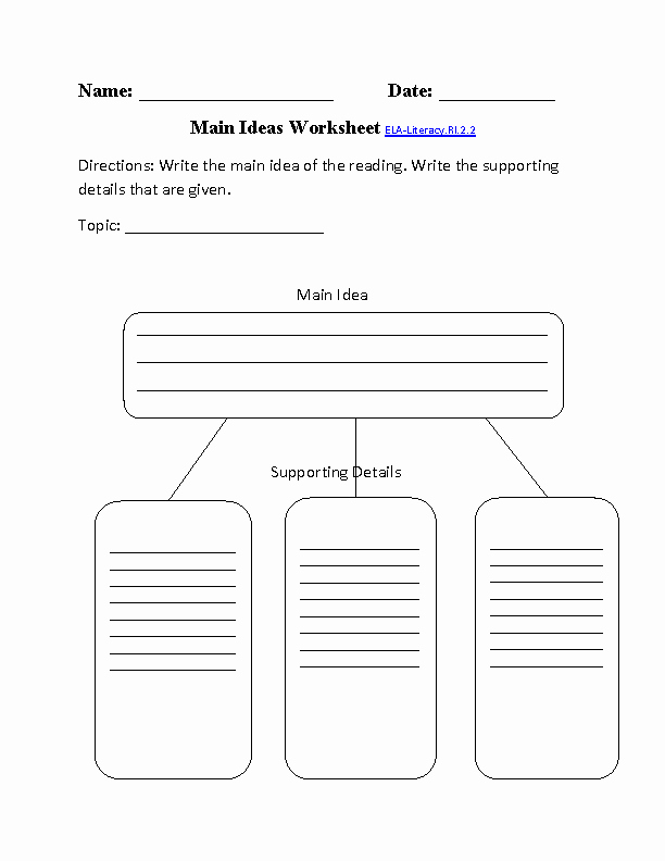 Main Idea Worksheet 2nd Grade New 13 Best Of Main Idea Detail 2nd Grade Worksheet Key