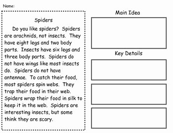 Main Idea Worksheet 2nd Grade Unique Main Idea Mon Cores and Nonfiction On Pinterest