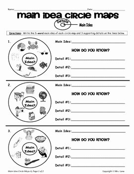 Main Idea Worksheet 4 Beautiful Elementary Main Idea Worksheets by Mrs Lane