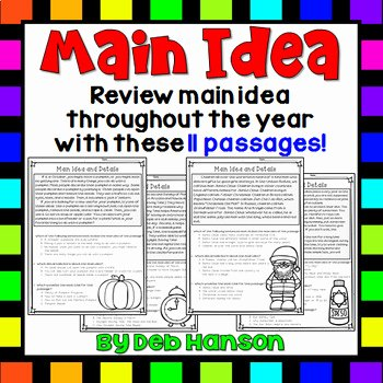 Main Idea Worksheet 4 Beautiful Main Idea and Supporting Details 11 Monthly Worksheets