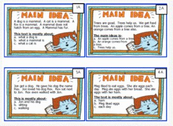 Main Idea Worksheet 4 Elegant Differentiated Main Idea Task Cards Centers & Bonus