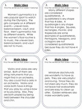 Main Idea Worksheet 4 Elegant Free Main Idea Practice Main Idea Pinterest